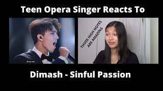 Teen Opera Singer Reacts To Dimash - Sinful Passion