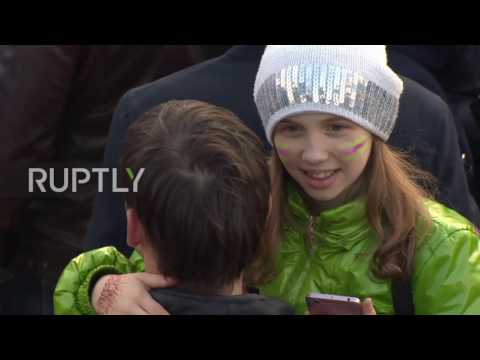 Russia: Thousands celebrate third anniversary of reunification with Crimea