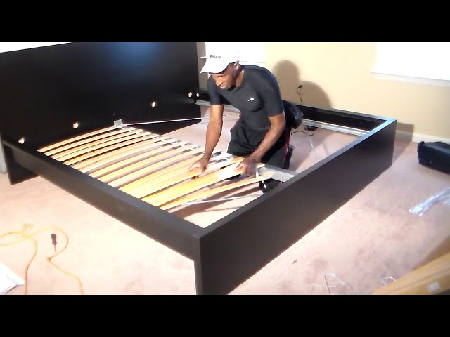 Ikea Malm King Bed Assembly Part 2 Youtube