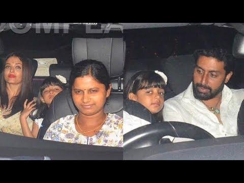 Aishwarya Rai bachchan and Abhishek Bachchan takes daughter Aradhya to a dinner datev😍