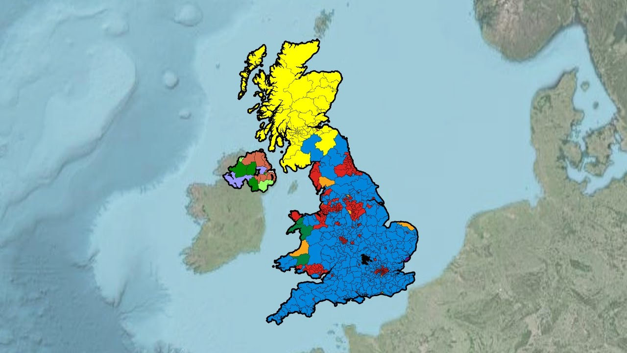 United Kingdom General Election Results 1945 2015 Youtube - 2015-us-election-results-map