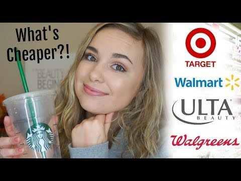 WHICH DRUGSTORE IS THE CHEAPEST?! | COMPARING MAKEUP PRICES OF 4 DIFFERENT STORES!