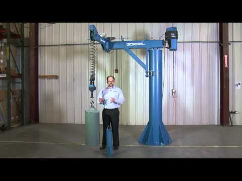 Gorbel Easy Arm 660 Lifts Heavy Machinery