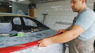Mazda 6 Установка лип спойлера.