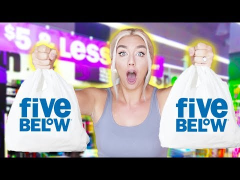 BUYING EVERYTHING FROM FIVE BELOW TO SURVIVE FOR 24 HOURS!!