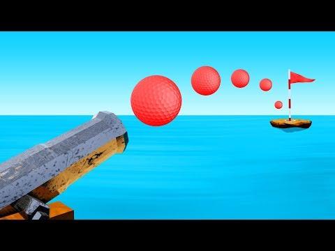 CRAZY Golfing in the OCEAN! (Golf It)