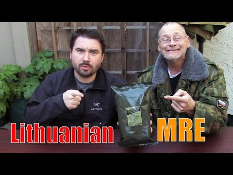 Crazy MRE - Lithuanian Meal Ready to Eat
