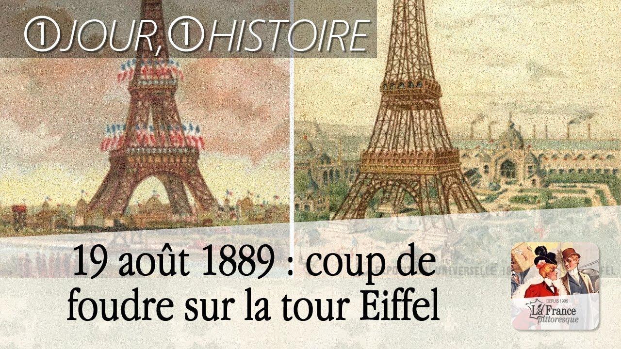 19 ao t 1889 premier coup de foudre sur la tour eiffel youtube - Coup de foudre sur internet ...