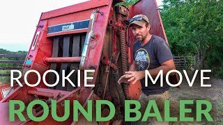 A ROOKIE MOVE and ROOKIE MISTAKE | Round Baler | Baler Clogging | Baler Belts Not Spinning