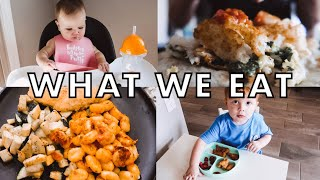 WHAT WE EAT  MOM, TODDLER, BABY
