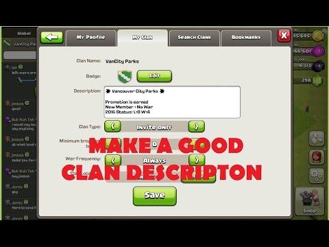 CoC Clan Description Line Break