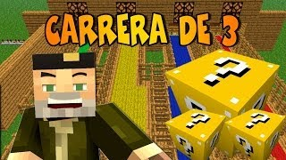 CARRERA ÉPICA!! c/ Vegetta y sTaXx | Lucky Blocks Epic Race
