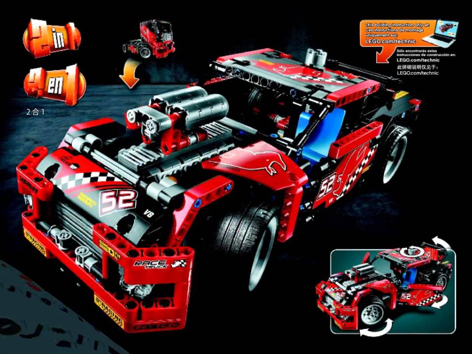 42041 Lego Race Truck Technic Instruction Booklet Youtube