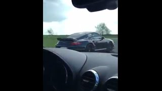PORSCHE 997 TURBO STAGE 2 550 Hp Vs AUDI TTRS Stage 2 By C2 Motorsport 430hp