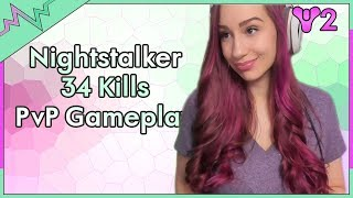 Nightstalker PvP Crucible Gameplay - 34 Kills - Destiny 2