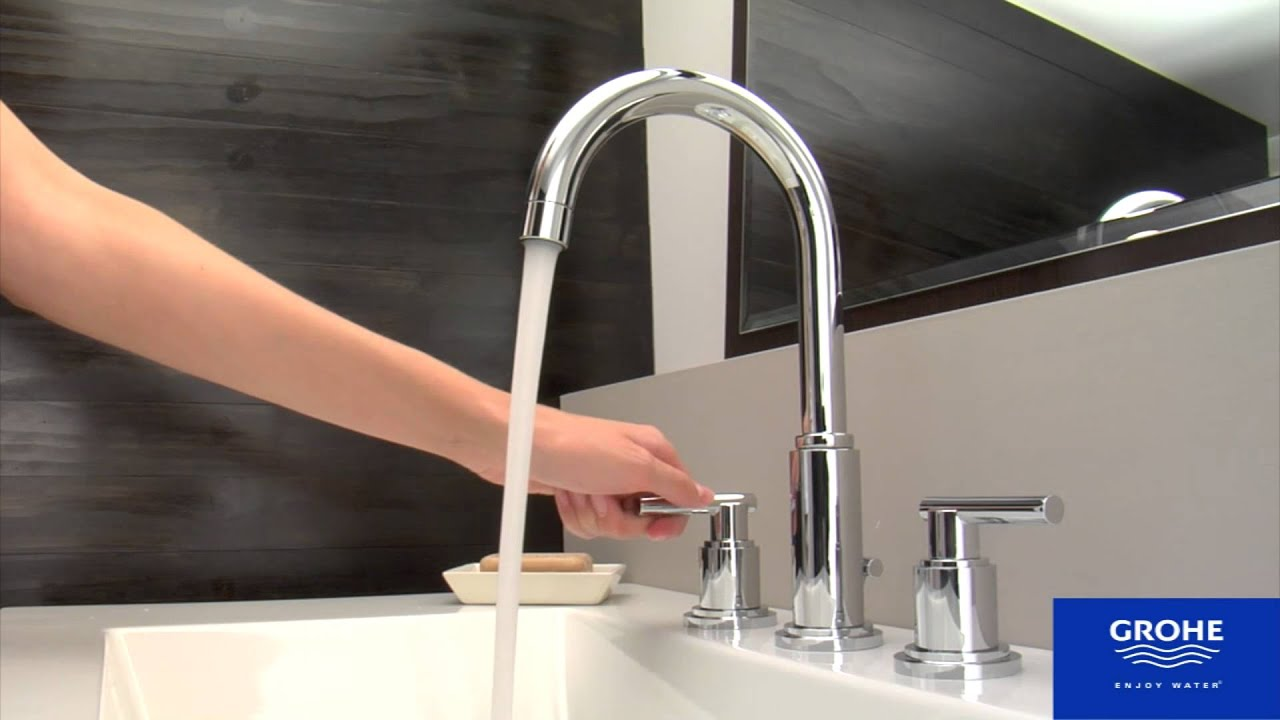 Grohe bathroom sink faucets - Grohe 20069000 Atrio Bathroom Faucet Youtube