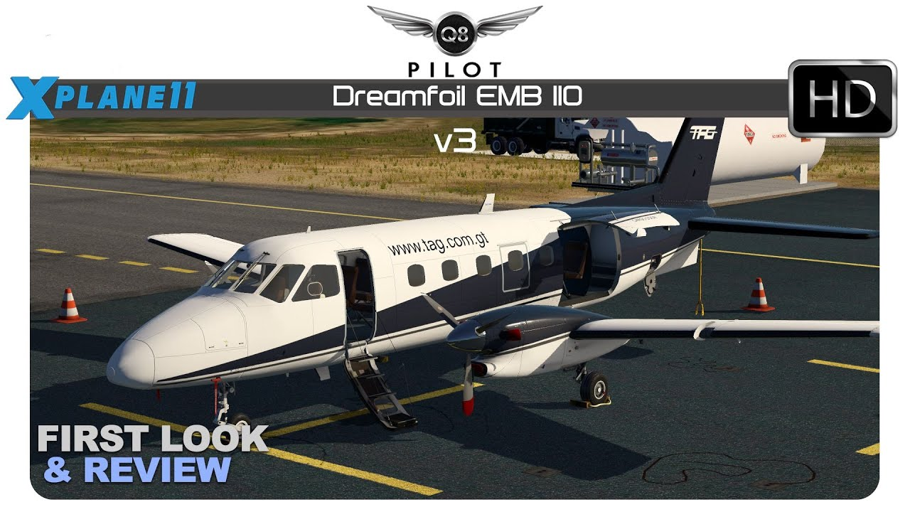 [X-Plane] Dreamfoil Embraer EMB-110 v3 for X-Plane 11 | First Look and  Review