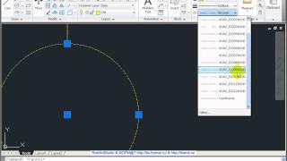 AutoCAD 2011  Урок 79  Пример  Разбивка осей(, 2012-03-14T18:32:13.000Z)