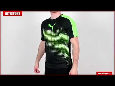 pánské triko s krátkým rukávem puma it evotrg graphic tee 65517450  blackgreen gecko 9d924d314a