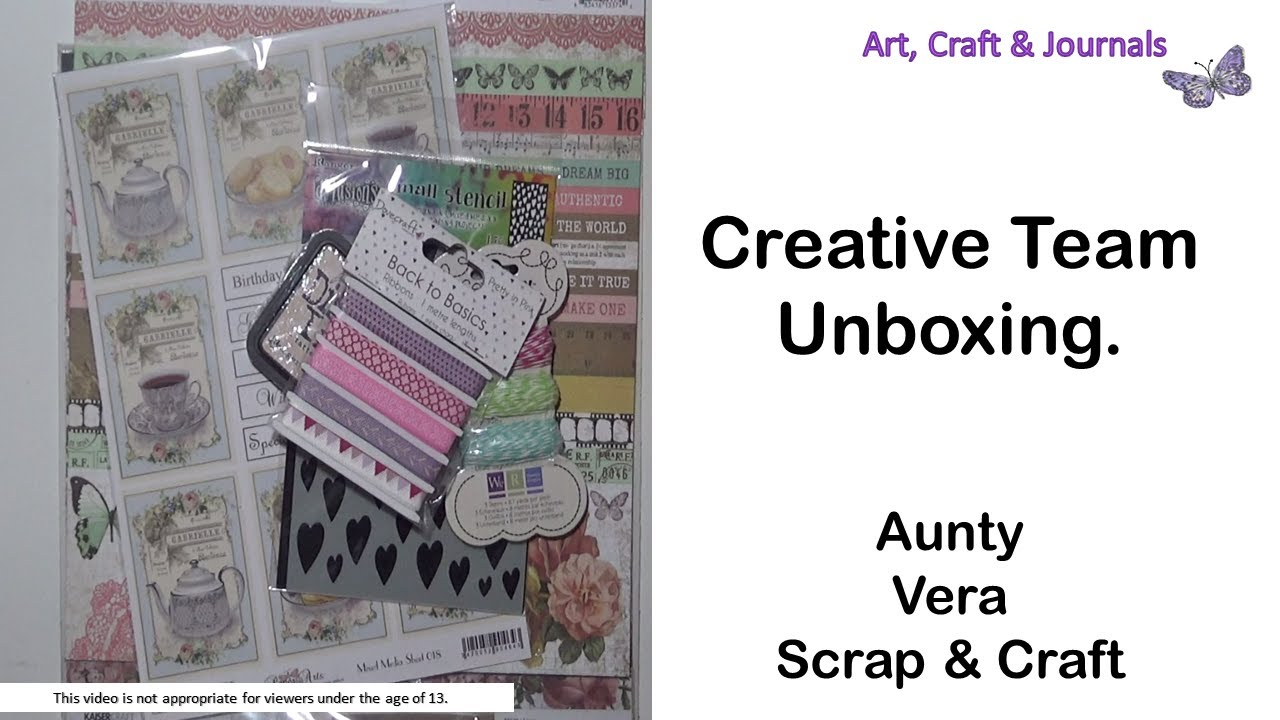 Aunty Vera Scrap And Craft Creative Team Unboxing For May It S National Scrapbooking Month Youtube
