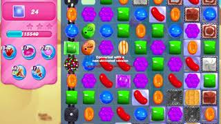 Candy Crush Saga Level 540 NO BOOSTERS waffles