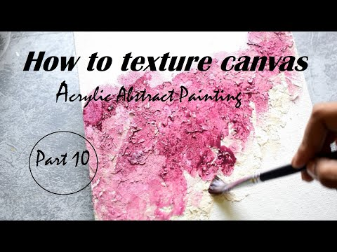 How to texture canvas // Abstract Painting // Acrylic Painting