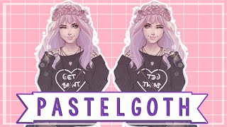 Sims 4: Create A Sim - Pastel Goth (Collab with Irish&Chill)