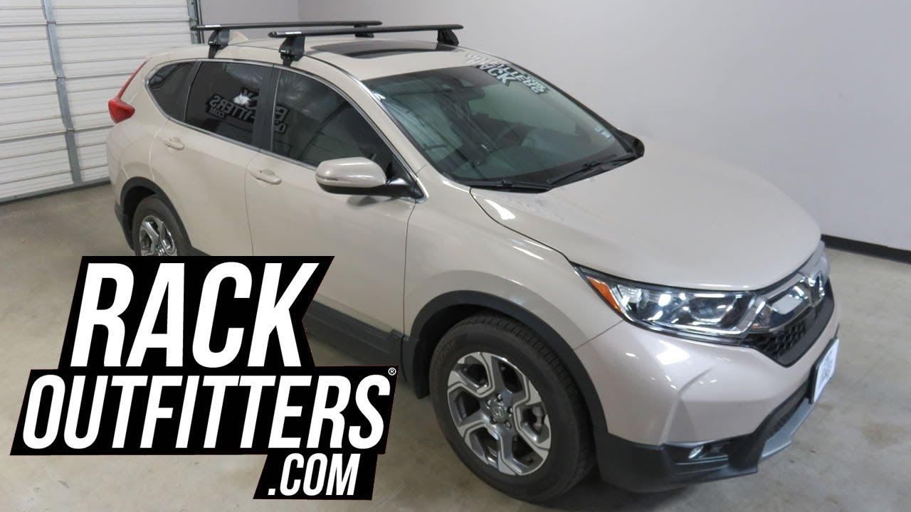 Honda Cr V With Rhino Rack 2500 Vortex Roof Rack Crossbars Youtube