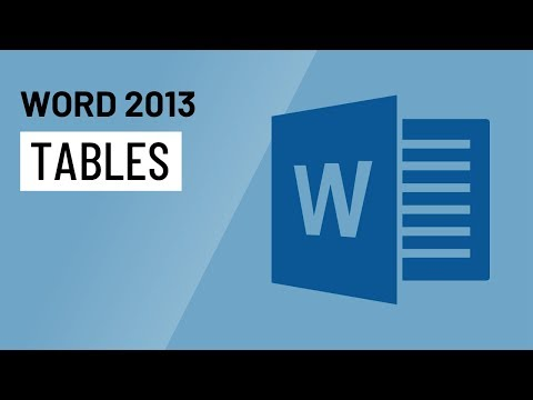 Word 2013: Tables - YouTube