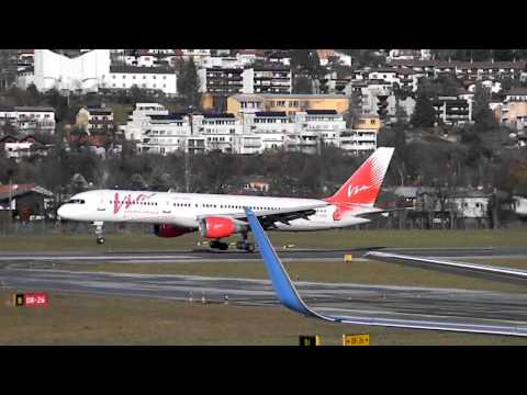 [RARE] Vim Airlines Boeing 757 landing Innsbruck