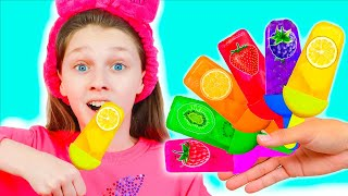 Children make ice cream with fruits and learn colors |Made Ice Cream part 1