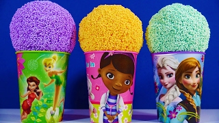Disney Frozen Tinkerbell Cup Foam Clay Toys Kinder Joy Surprise Egg Trolls Surprise Egg Finding Dory