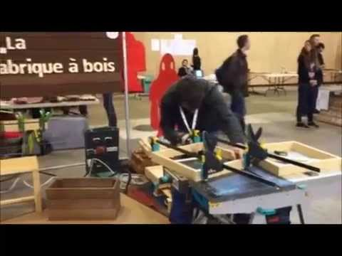 la fabrique bois la maker faire paris 2015 youtube. Black Bedroom Furniture Sets. Home Design Ideas