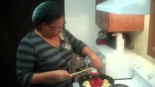 Cooking With K Ep.8 Pt.2 - Black Bean Enchiladas With Calabacitas Guisada