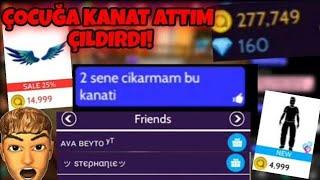 Avakin Life ÇOCUĞA KANAT GÖNDERDİM|ÇILDIRDI!!