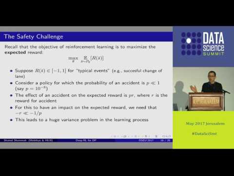 Deep Reinforcement Learning for Driving Policy - Shaked Sammah
