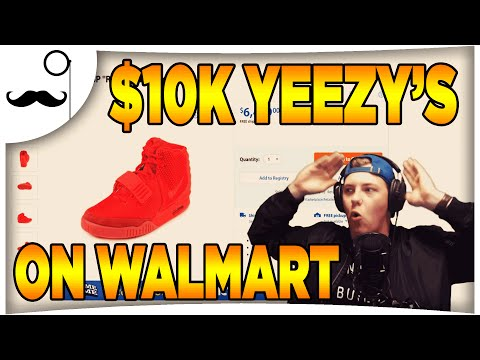 $10,000 NIKE AIR YEEZY 2 RED OCTOBER ON WALMART.COM