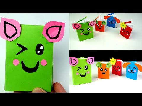 Diy Easy Mini Notebook ONE sheet of Paper - Mini Paper Book -DIY BACK TO SCHOOL