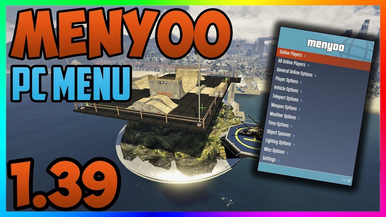 GTA 5 Online: `Menyoo 1 39 ONLINE PC MOD MENU` + DOWNLOAD - PC Mod Menu  Showcase (GTA 5 PC Mods)