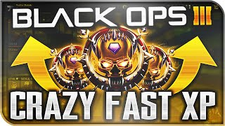 PRESTIGE IN 7 GAMES! - 200,000 XP PER GAME! Fastest Way to Rank Up (Black Ops 3)