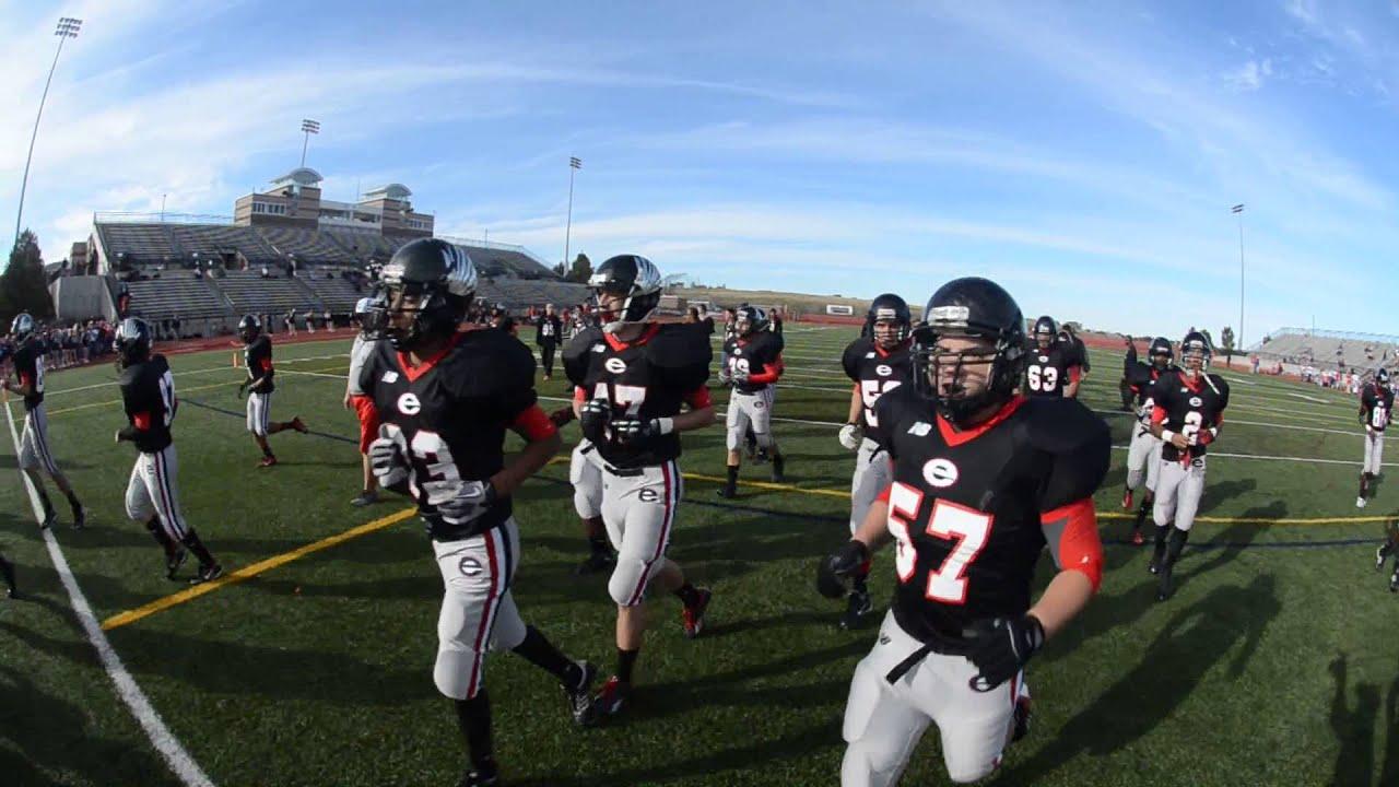 Eaglecrest High School Football Team Pre Game At Legacy Stadium