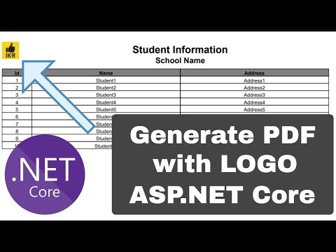 Generate PDF Report With Image In ASP.NET Core Project