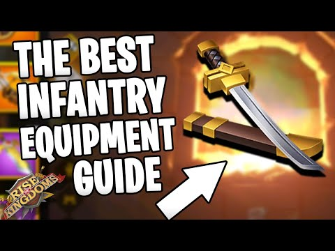 Free to Play INFANTRY EQUIPMENT GUIDE [ 3 SETS ] ( rok tips ) | Rise of Kingdoms