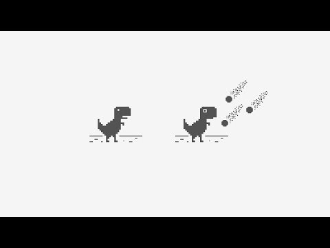 chrome dino t rex new record youtube