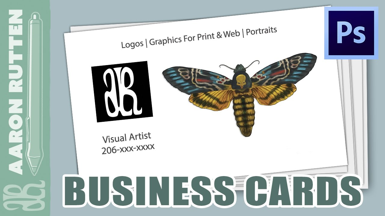How To Make A BUSINESS CARD in Photoshop CC - YouTube