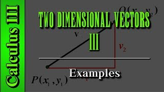 Calculus III: Two Dimensional Vectors (Level 3 of 13)   Examples