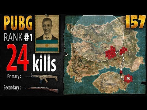 [Eng Sub] PUBG Rank 1 - p0me 24 kills [SA] DUO TPP - PLAYERUNKNOWN'S BATTLEGROUNDS #157