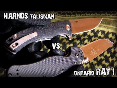 EDC нож Ontario RAT-1 Крыса против HARNDS Talisman