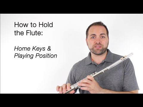 Beginner Flute Lesson 4 - How to Hold the Flute
