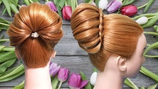 Beautiful updo for special occasions  🍎🌿 Juda hairstyle  🍀 Hair style girl